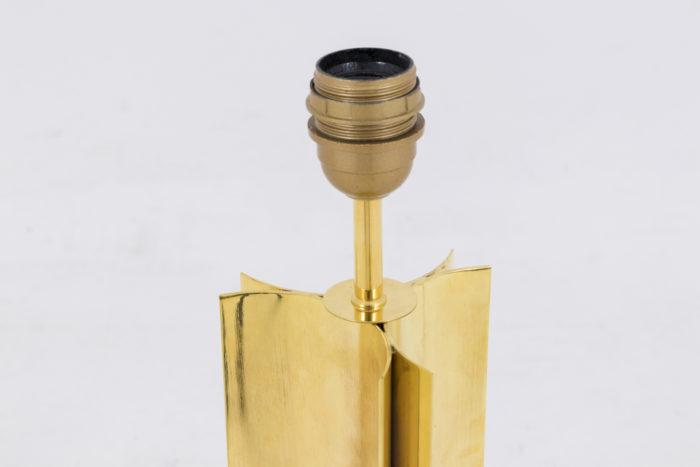 lampe moderne laiton doré fut geometrique douille
