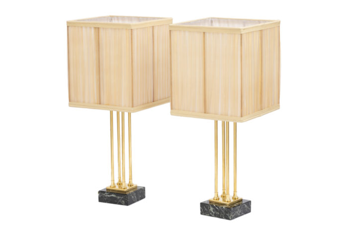empire style lamps gilt bronze marble