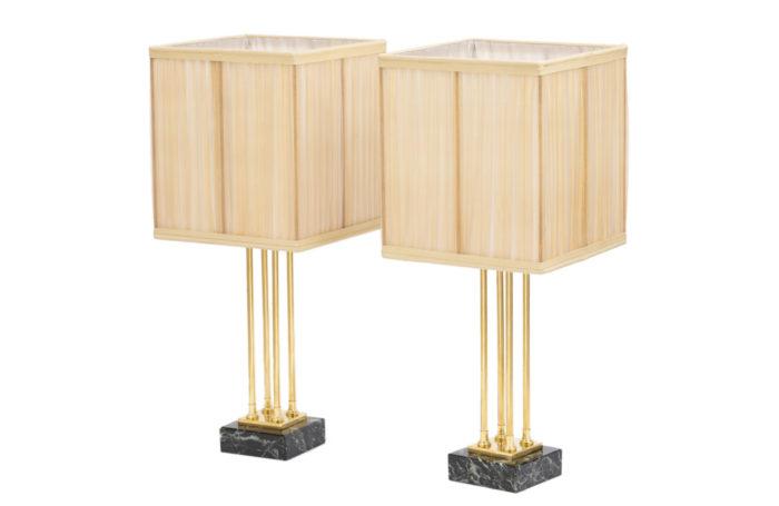 lampes style empire bronze doré marbre
