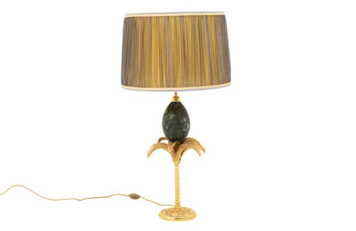maison charles palm tree lamp marble egg