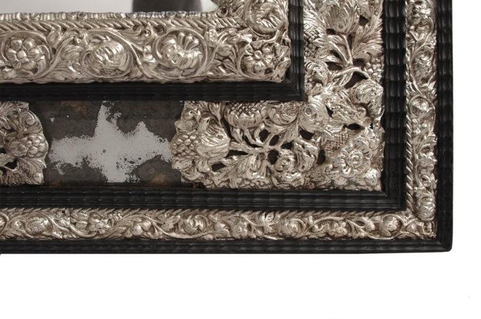 miroir style régence métal repoussé écoinçon 2