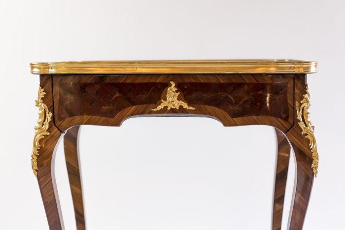 petite table style louis xv ceinture marqueterie