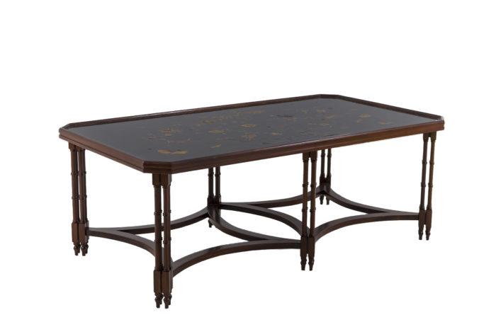 madeleine castaing table acajou laque noire pcple