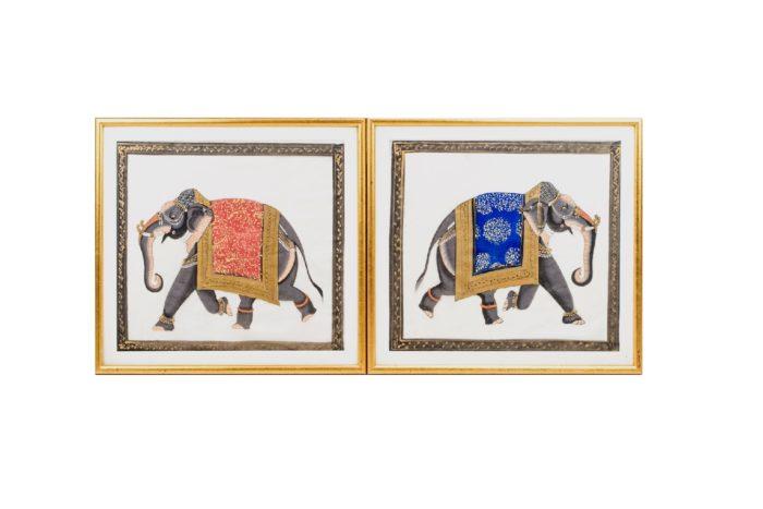 éléphants technique mixte