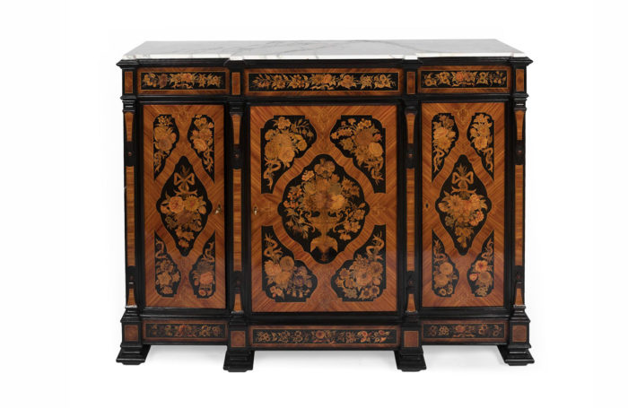flower marquetry buffet