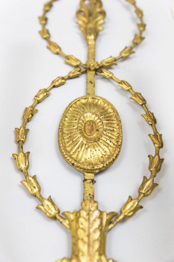 applique neoclassique style adam medaillon