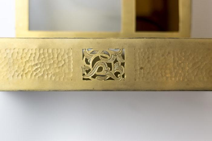 base applique laiton doré sculpté