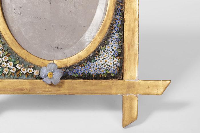 cadre miroir micro-mosaïque encadrement or 2
