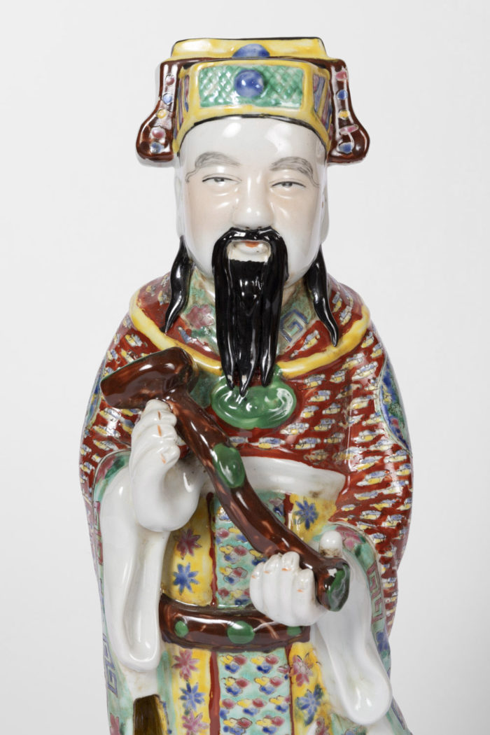 dignitaire chinois faience