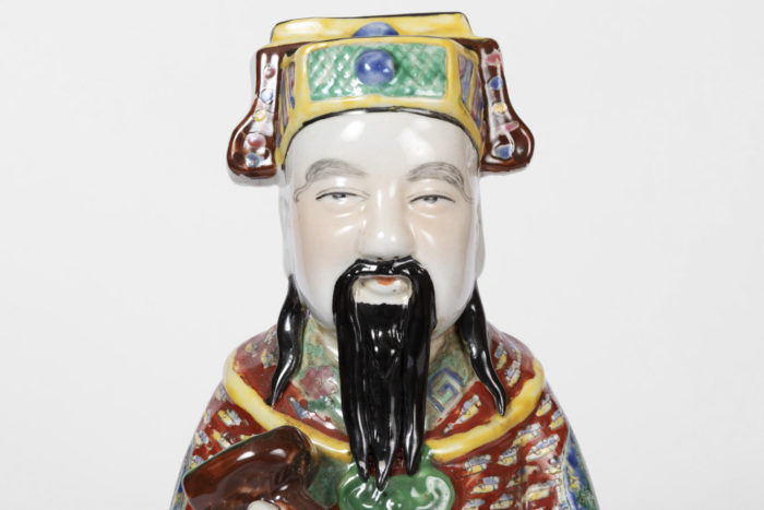 dignitaire chinois faience chapeau