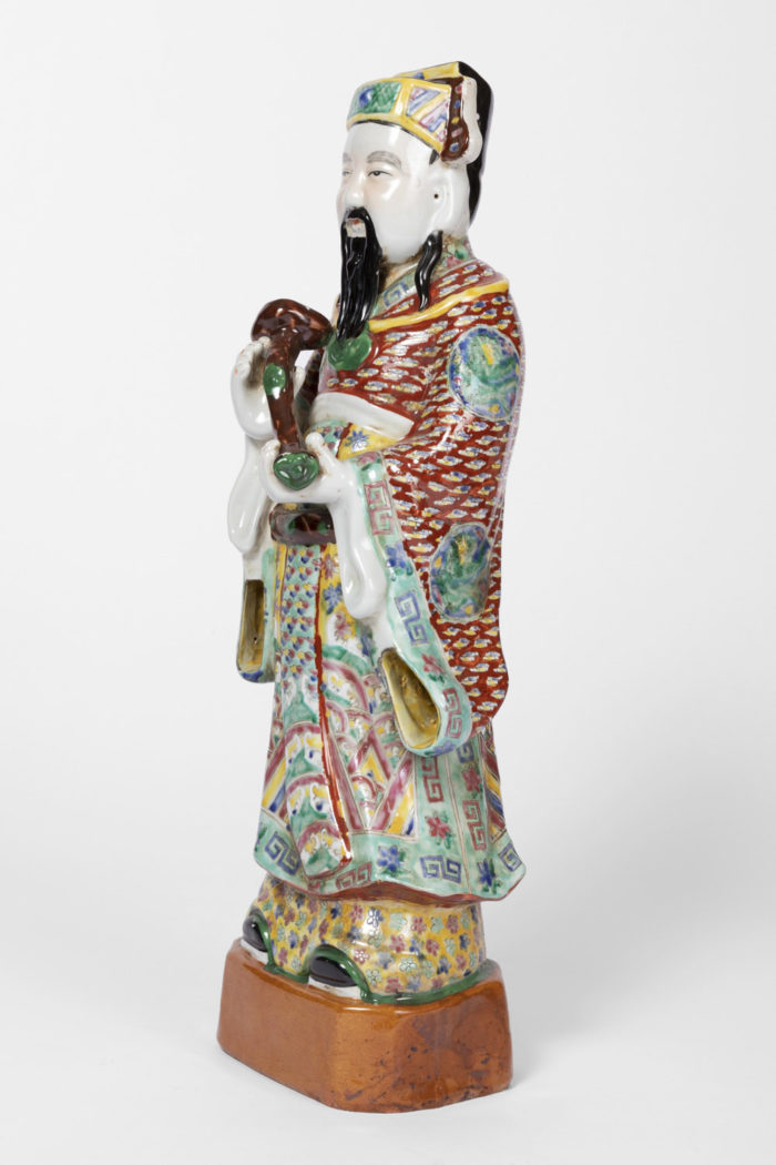 dignitaire chinois faience polychrome