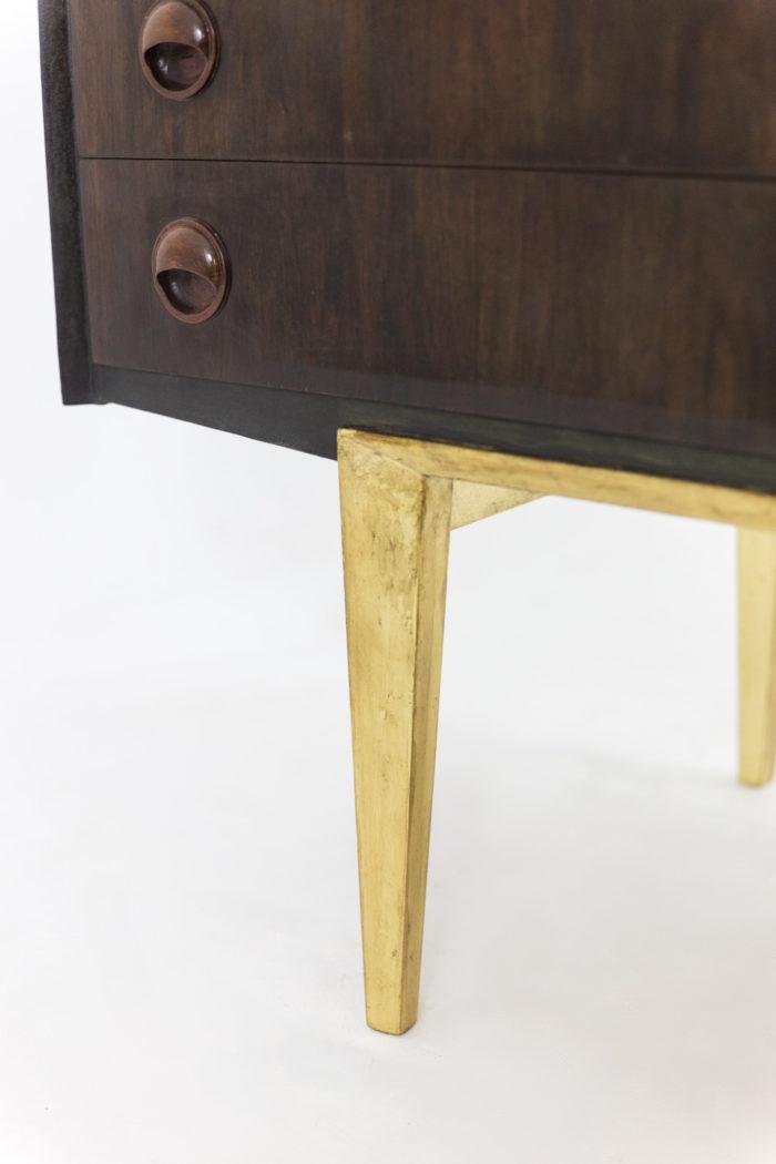 enfilade palissandre piètement metal doré