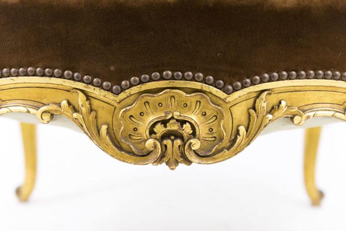 fauteuil style louis xvi a oreilles bois doré ceinture