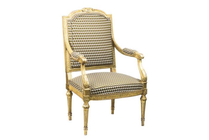 fauteuil style louis xvi bois doré angle