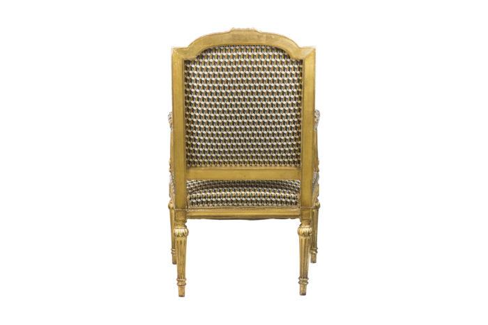 fauteuil style louis xvi bois doré dos