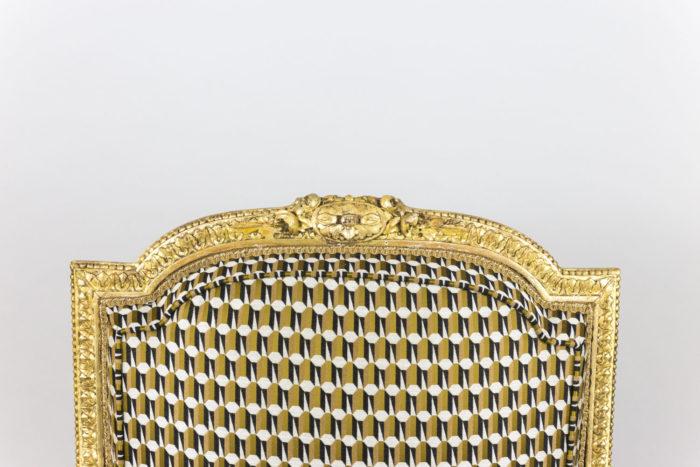fauteuil style louis xvi bois doré dossier haut
