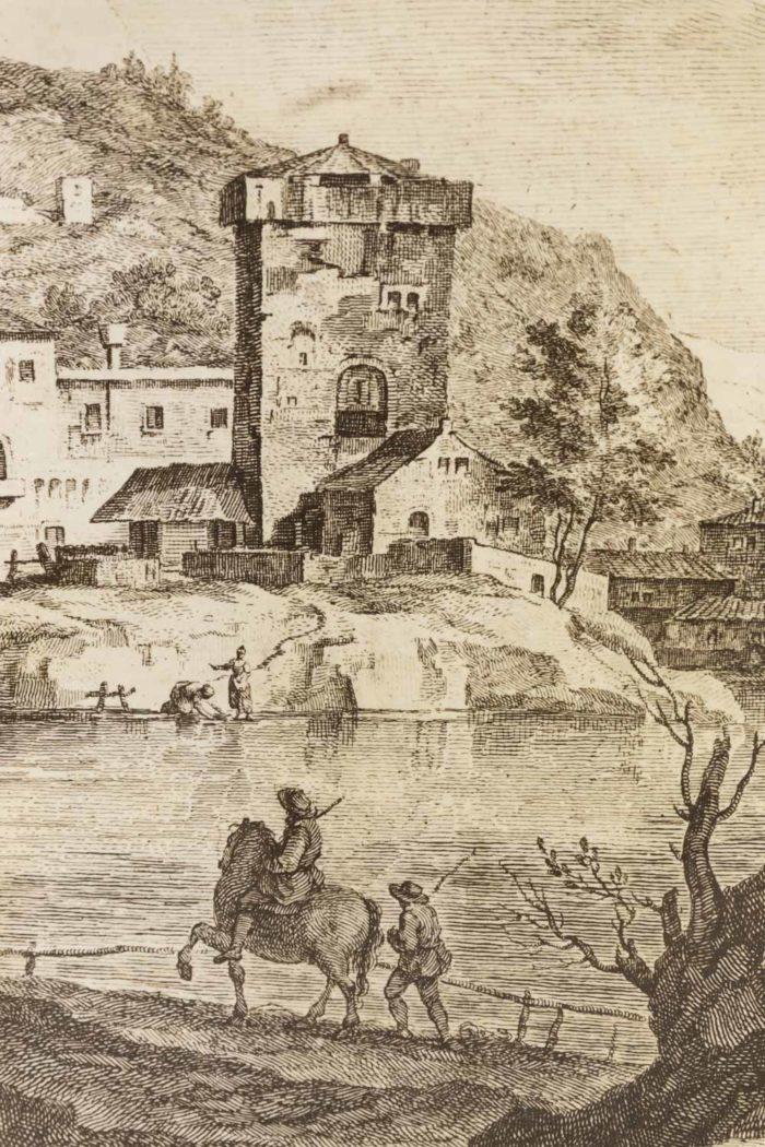 fornasetti porte papier peint decor gravure bastide