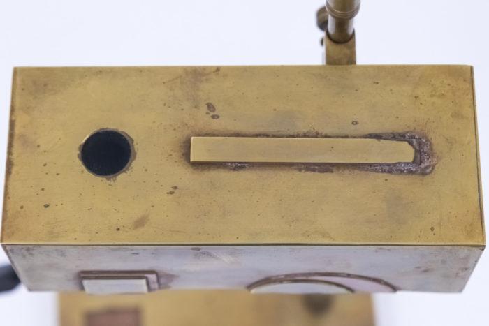 lampe bauhaus laiton cuivre abat jour dessus