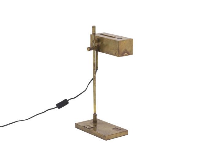 lampe bauhaus laiton cuivre angle