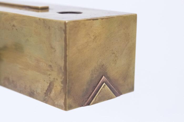 lampe bauhaus laiton cuivre detail abat jour