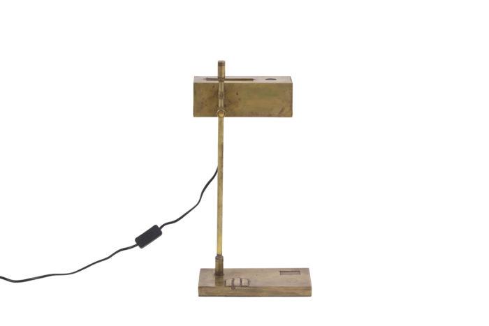 lampe bauhaus laiton cuivre dos