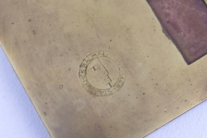 lampe bauhaus laiton cuivre signature base