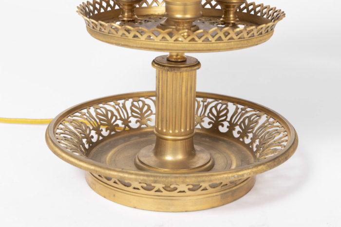 lampe bouillotte ajourée bronze doré