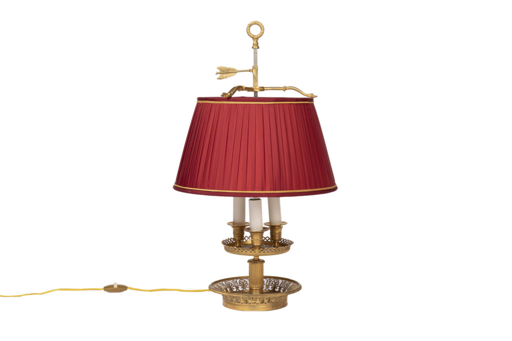 Lampe bouillotte style Restauration en bronze doré, époque 1900