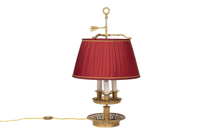 restauration style bouillotte lamp gilt bronze