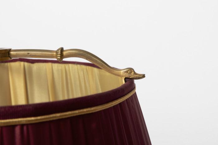 lampe bouillotte style restauration cygnes abat-jour
