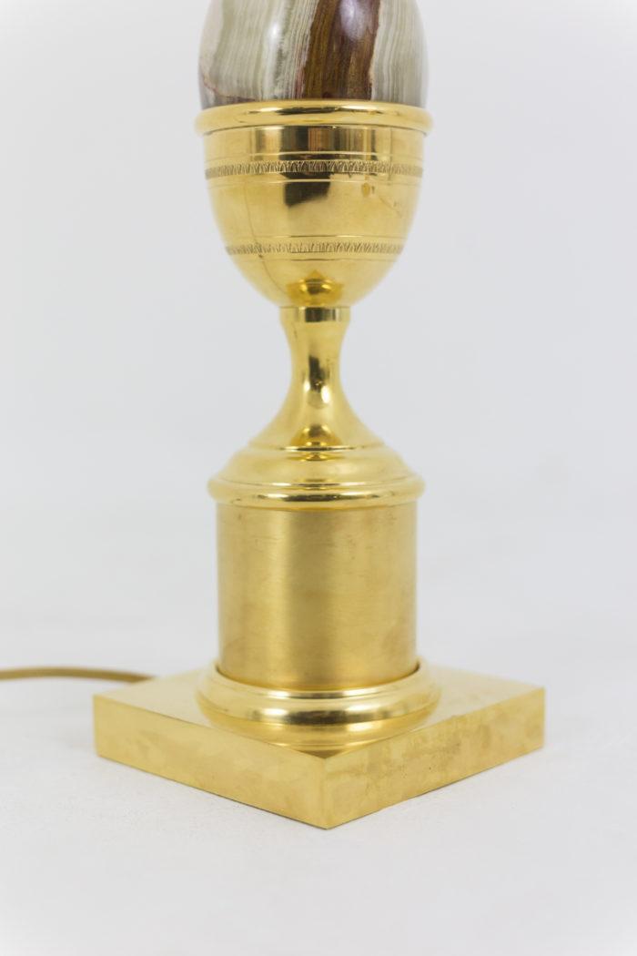 lampe oeuf onyx laiton doré bas
