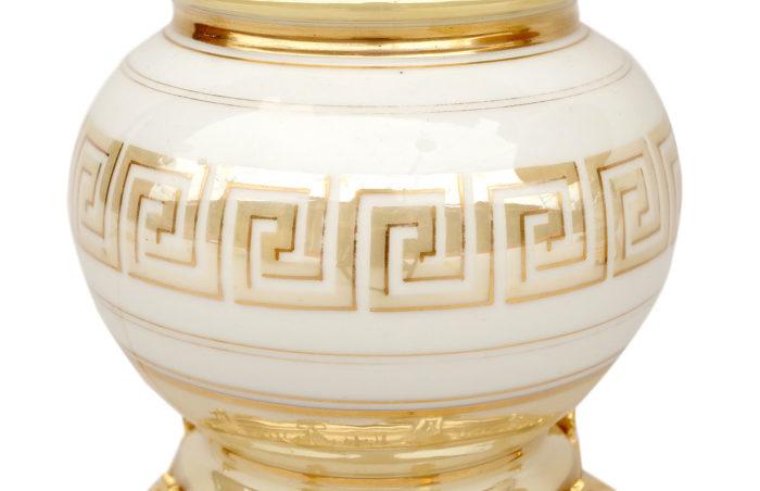 lampe porcelaine irisée décor grecques