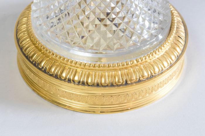 lampe style empire base bronze doré