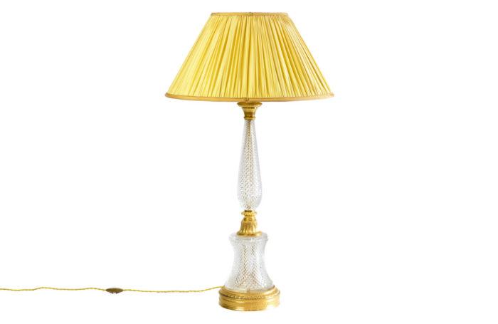 lampe style empire cristal taillé
