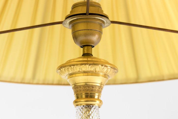 lampe style empire cristal taillé bronze doré