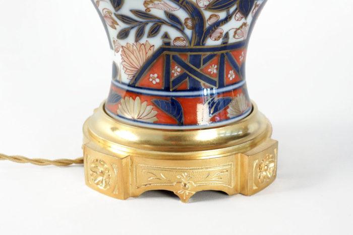 lampes porcelaine bayeux base bronze doré