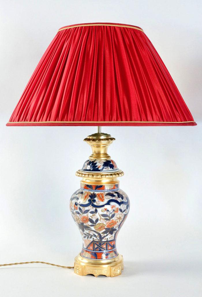 lampes porcelaine bayeux bronze doré