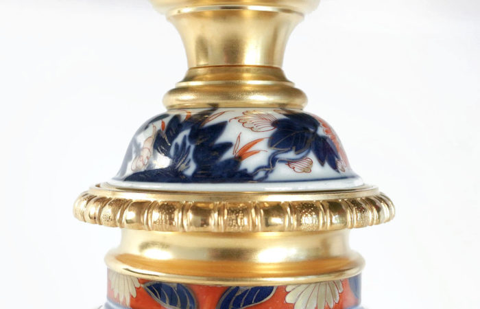 lampes porcelaine bayeux décor imari couvercle