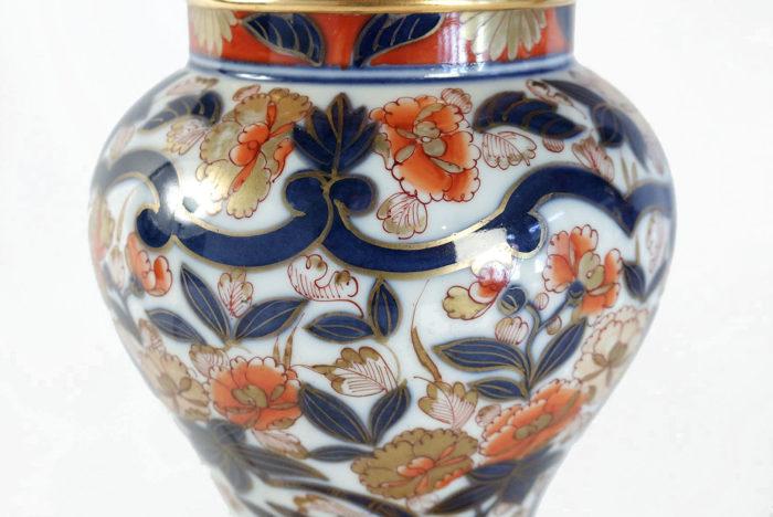 lampes porcelaine bayeux décor imari fleurs