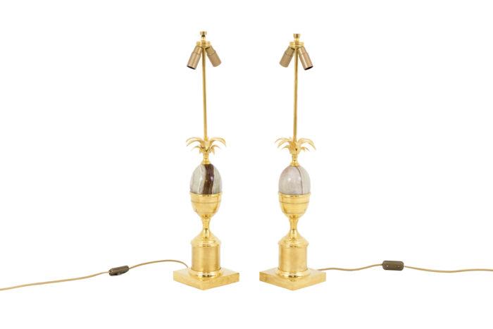 maison charles lampes oeuf onyx laiton doré 5
