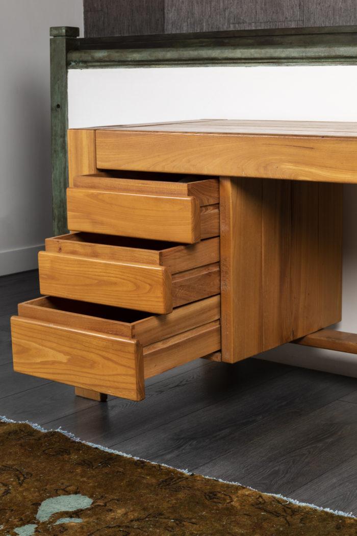 maison regain bureau orme tiroirs ouverts