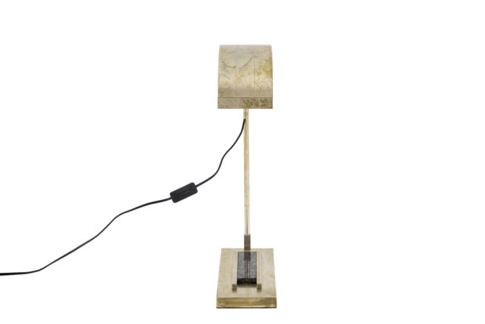 marcel breuer lampe laiton nickelé front