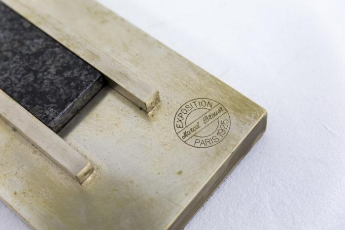 marcel breuer lampe laiton nickelé signature