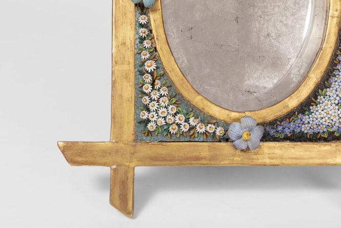 table mirror mosaic gilt frame