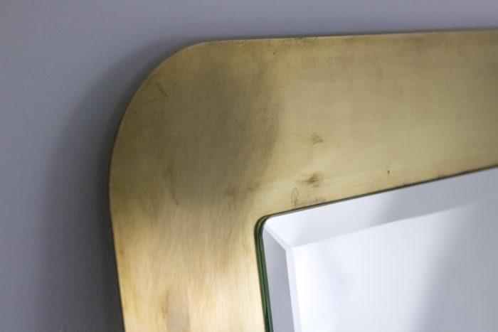 miroir laiton brossé angle