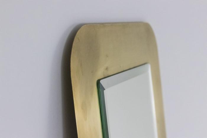 miroir laiton doré brossé haut