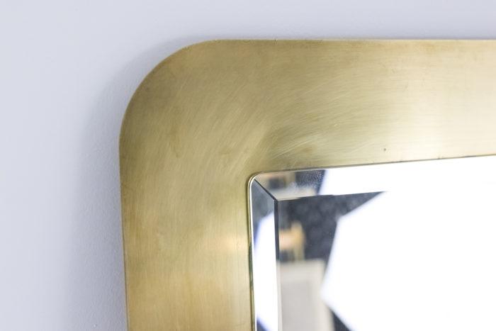 miroir rectangulaire laiton brossé angle 3