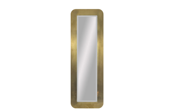 gilt brushed brass mirror