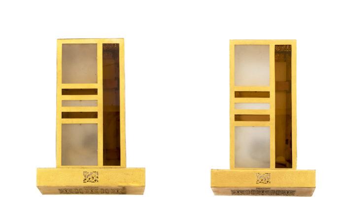 paire appliques style oriental laiton dore pcple