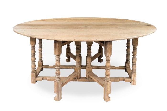 table gateleg chêne ouverte